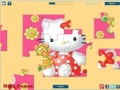 Game Kamusta Kitty flower puzzle  online - mga laro sa online