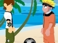 Game Naruto at Ben 10-play ng volleyball  online - mga laro sa online