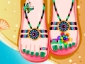 Game Holiday pedicure online - mga laro sa online
